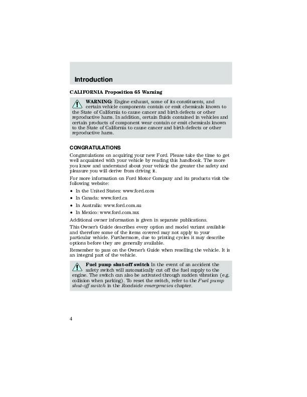 ford 2003 escape manual