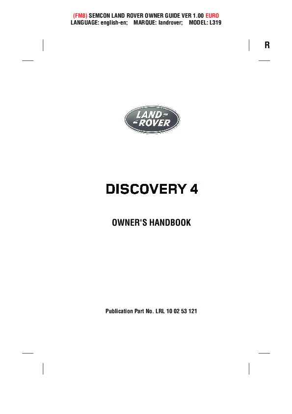 2014 2015 land rover discovery 4 handbook manual rh auto filemanual com land rover discovery 1 owners manual pdf Corvette Owners Manual