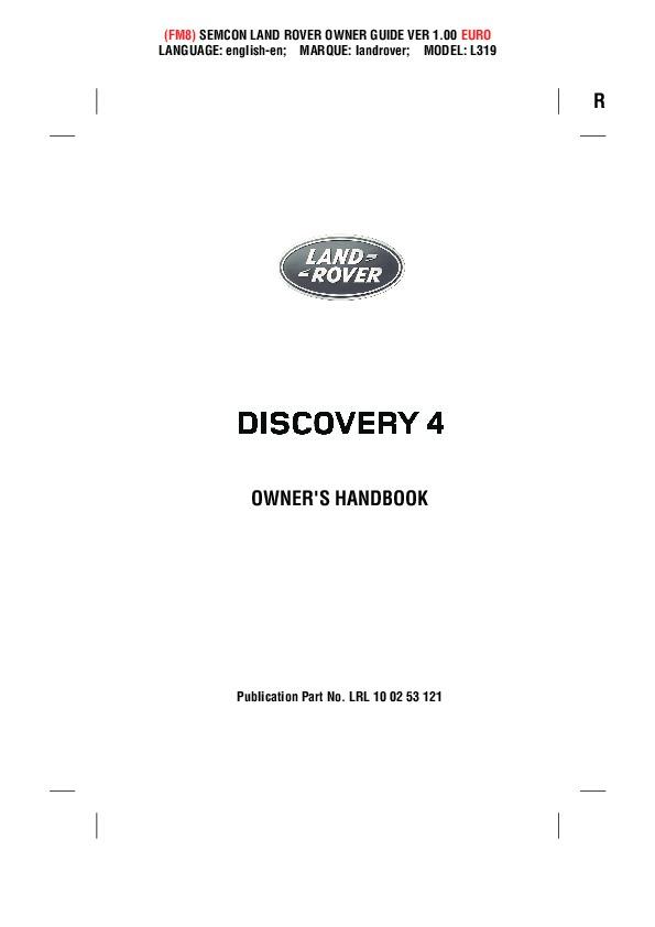 2014 2015 land rover discovery 4 handbook manual rh auto filemanual com land rover discovery 4 owners manual discovery 4 service manual pdf