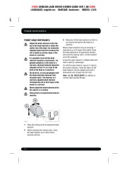 Land Rover Discovery 4 Handbook Owners Manual, 2014, 2015 page 22