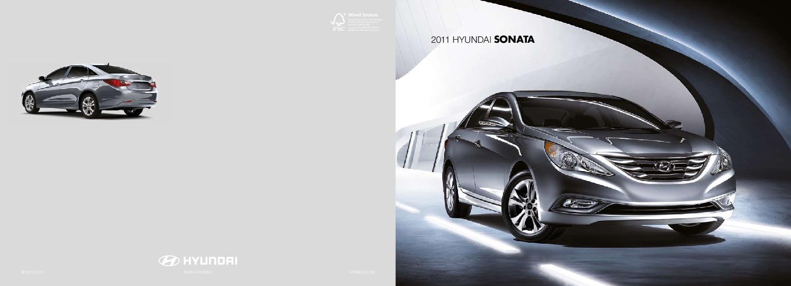 2011 hyundai sonata 2 4l gls se limited hyundai i45 catalogue brochure rh auto filemanual com Hyundai I40 Sedan Hyundai I30