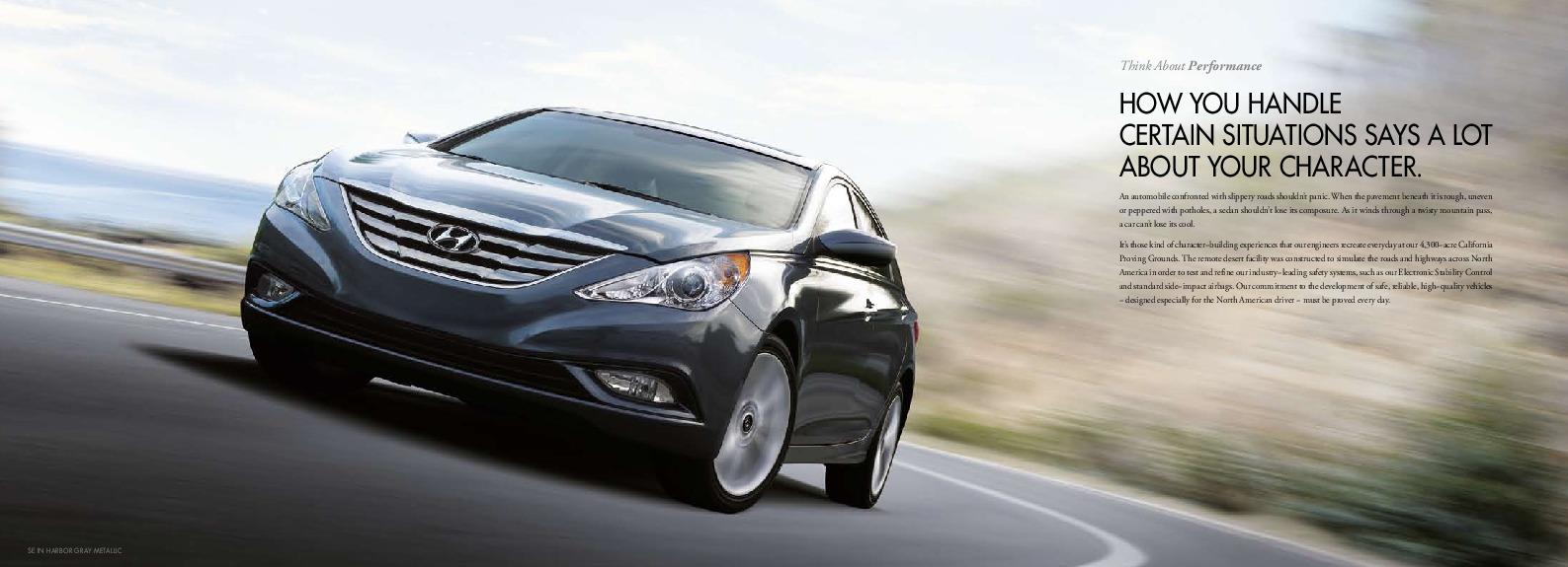 2011 hyundai sonata 2 4l gls se limited hyundai i45 catalogue brochure rh auto filemanual com Hyundai Genesis Hyundai I40 Sedan