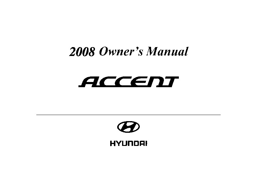 2008 hyundai accent owners manual download