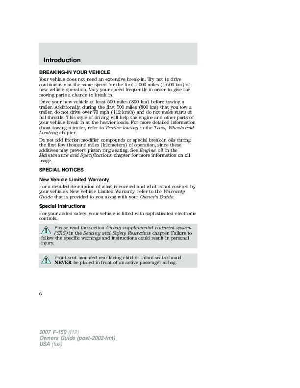 2010 Ford F 450 Owners Manual