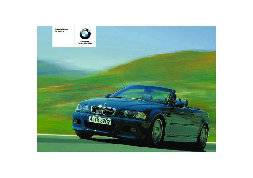 2006 bmw 3 series m3 e46 m3 owners manual rh filemanual com E90 M3 E46 M3 GTR