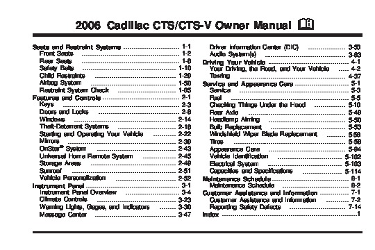 2006 cadillac cts cts v owners manual rh filemanual com 2006 cadillac cts owners manual pdf 2006 cadillac sts owners manual
