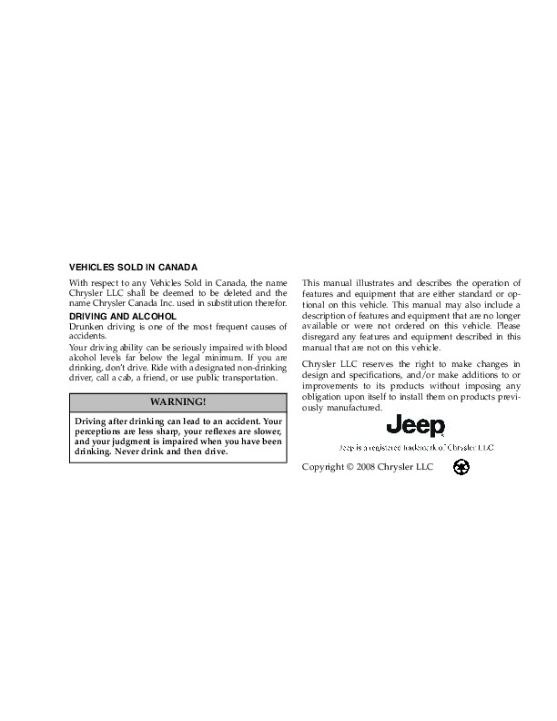 2009 jeep grand cherokee owners manual rh auto filemanual com 2000 Jeep Cherokee Owners Manual Jeep Cherokee Sport Owner's Manual