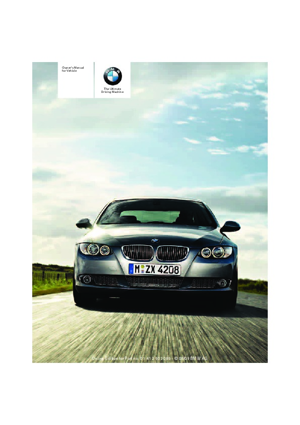 2010 bmw 3 series owners manual idrive rh auto filemanual com BMW 3 Series Hood BMW 3 Series Wheels