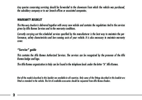 Alfa Romeo PDF manuals