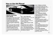 1993 Chevrolet Corvette C4 ZR-1 Owners Manual, 1993 page 9