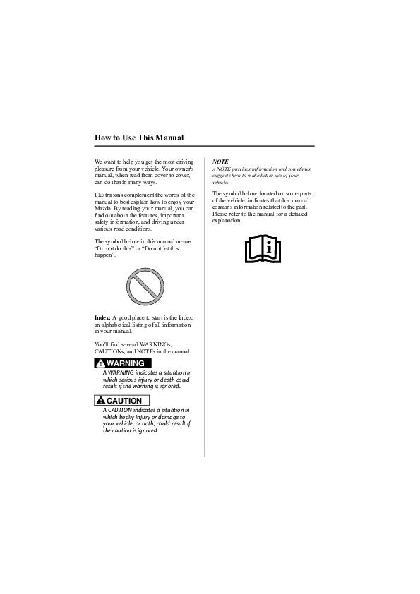 2009 mazda 6 owners manual