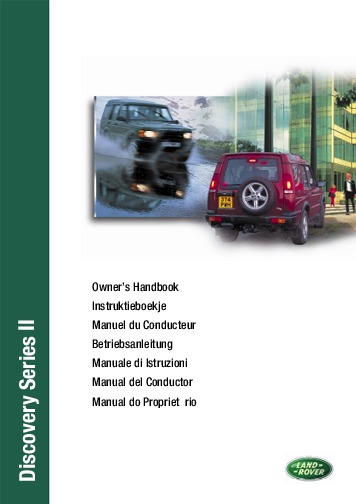 2001 Land Rover Discovery Series Ii Owners Manual Handbook