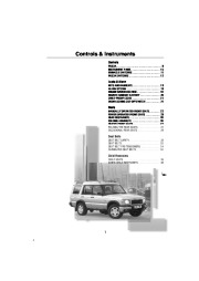 Land Rover Owners Manual, 2001 page 8
