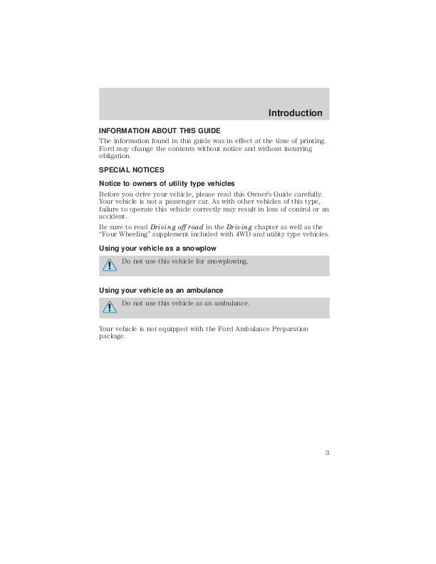 Ford 2003 Explorer Owner s Manual