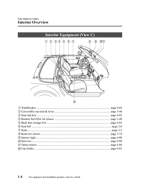 2009 mazda mx 5 miata owners manual. Black Bedroom Furniture Sets. Home Design Ideas