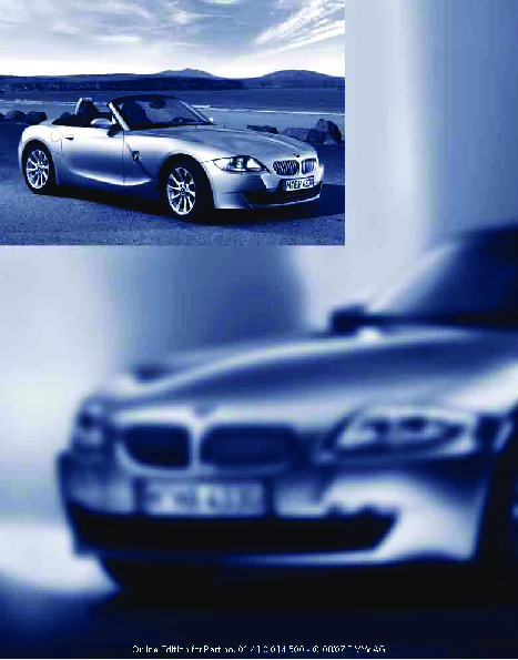 2008 Bmw Z4 3 0i 3 0si E86 Owners Manual