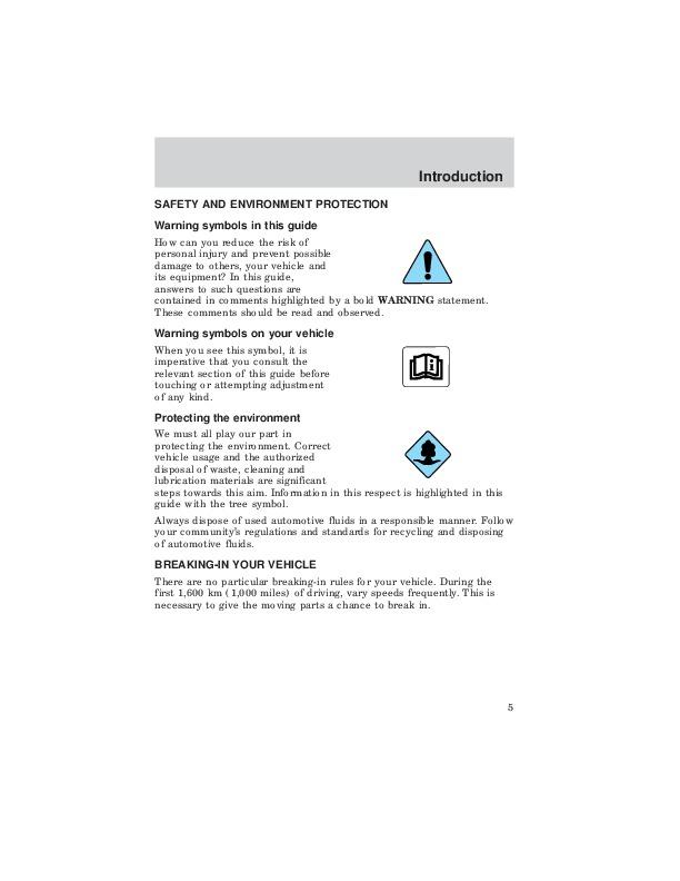 2004 mazda 6 owners manual