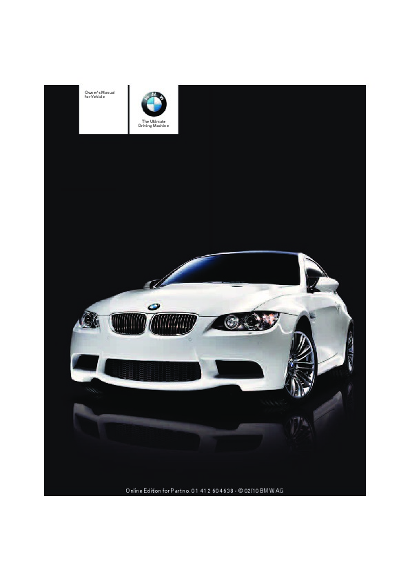 2011 bmw 3 series m3 e90 e92 e93 owners manual rh auto filemanual com bmw m3 owners manual pdf m3 owners manual