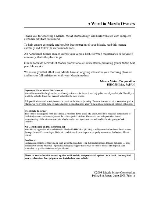 2009 mazda 3 owners manual rh auto filemanual com Owners Manual 2012 Mazda 3 mazda 3 2009 owners manual pdf