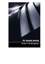 Land Rover Range Rover Audio and Navigation System Manual, 2001 page 1
