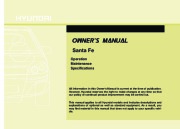 2010 Hyundai Santa Fe Owners Manual page 1
