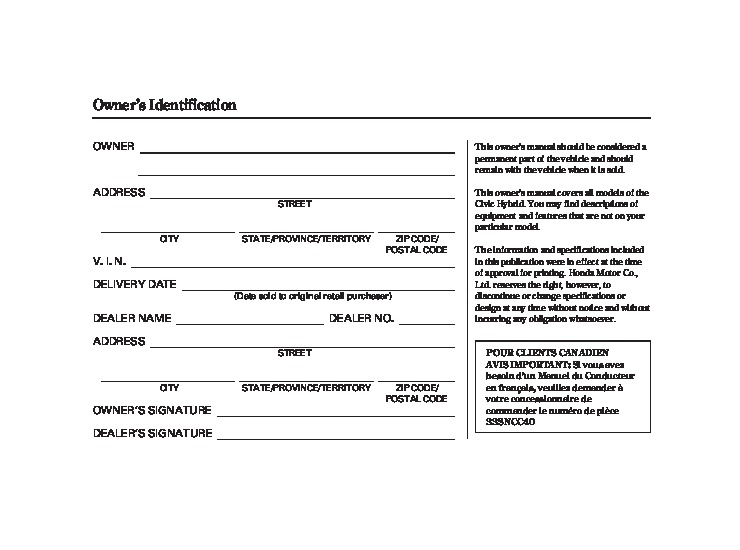 2010 honda civic hybrid owners manual rh auto filemanual com 2010 Honda Civic Warranty Information 2010 Honda Accord Maintenance Schedule