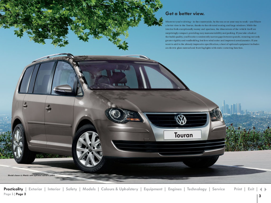 2009 volkswagen touran vw catalog. Black Bedroom Furniture Sets. Home Design Ideas