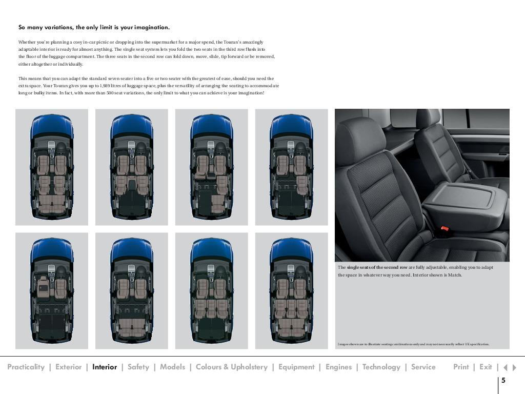 vw touran interior dimensions car reviews 2018. Black Bedroom Furniture Sets. Home Design Ideas