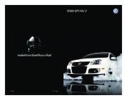 2008 Volkswagen GTI VW Catalog page 1