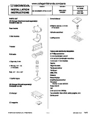 2000 Honda Civic CD Changer Console 08B12-S00-101 Installation Instructions page 1