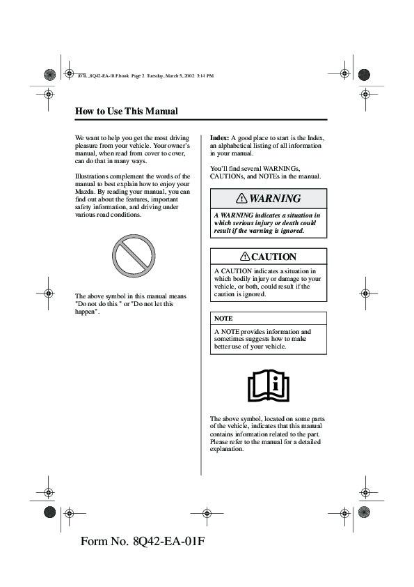 2002 mazda mx 5 miata owners manual 2002 mazda miata owners manual pdf Mazda Miata Manual Transmission