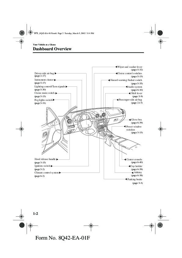 2002 mazda mx 5 miata owners manual