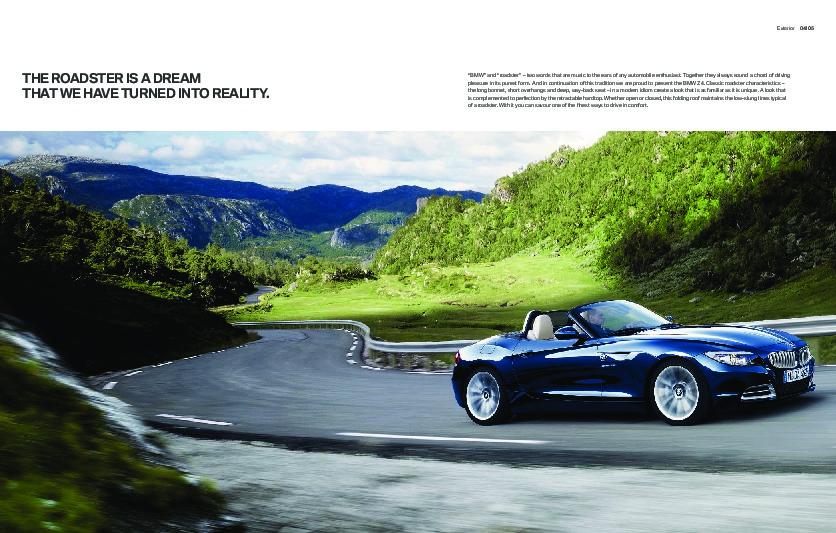 2011 Bmw Z4 Series Sdrive23i 30i 35i 35is E89 Catalog