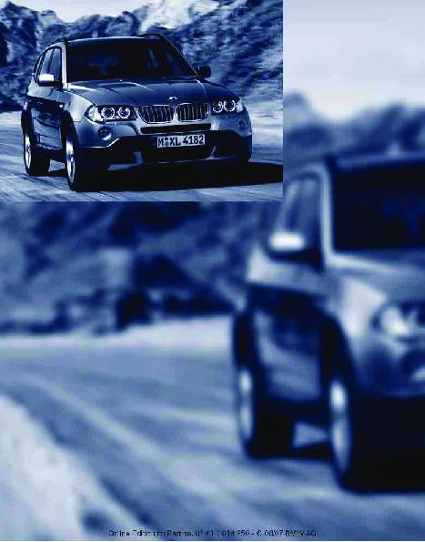 2008 bmw x3 3 0i 3 0si e83 owners manual rh filemanual com All White BMW X3 BMW X3 Si