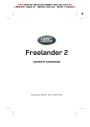 Land Rover Freelander 2 Handbook Owners Manual, 2014, 2015 page 1
