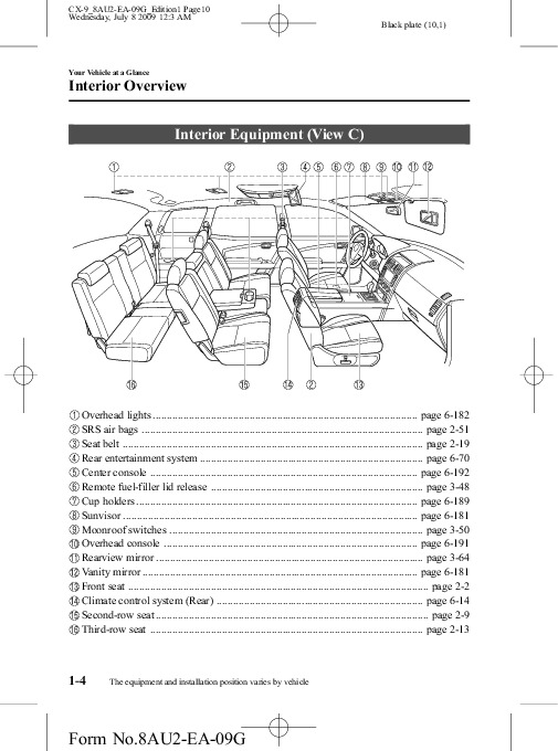 Mazda CX-7 - Owner s Manual - PDF ( Pages)
