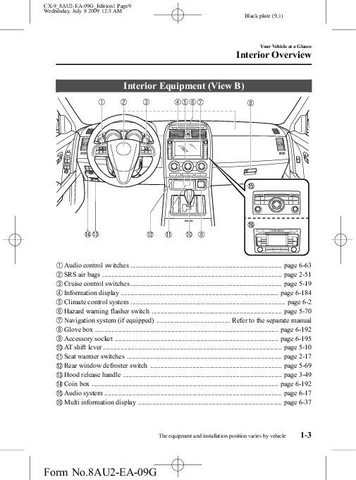 mazda cx 9 user manual user guide manual that easy to read u2022 rh sibere co 2009 Mazda CX-9 Problems 2009 Mazda CX-9 Problems