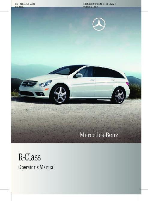 2010 mercedes benz r350 r350 bluetec v251 owners manual rh auto filemanual com Mercedes R350 Review Mercedes R350 Problems