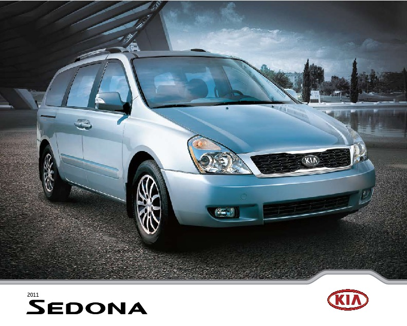 2010 2011 kia sedona catalogue brochure. Black Bedroom Furniture Sets. Home Design Ideas