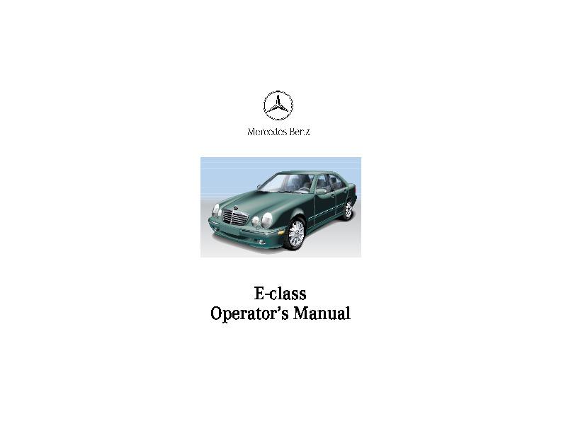 2001 mercedes benz e class operators manual e320 e430 e55amg rh auto filemanual com 2008 Mercedes -Benz E430 2001 Mercedes -Benz E430 Sport