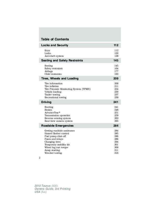 2010 ford taurus owners manual rh auto filemanual com 2010 ford taurus owners manual pdf 2010 ford taurus owners manual pdf