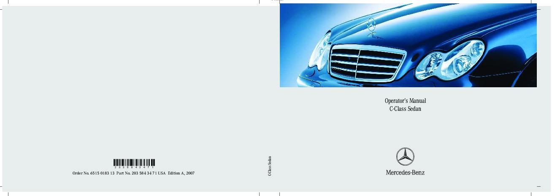 2007 mercedes benz c class operators manual c230 sport c280 4matic rh auto filemanual com 2007 mercedes benz c230 owners manual pdf 2007 Mercedes-Benz C230 Sport Engine