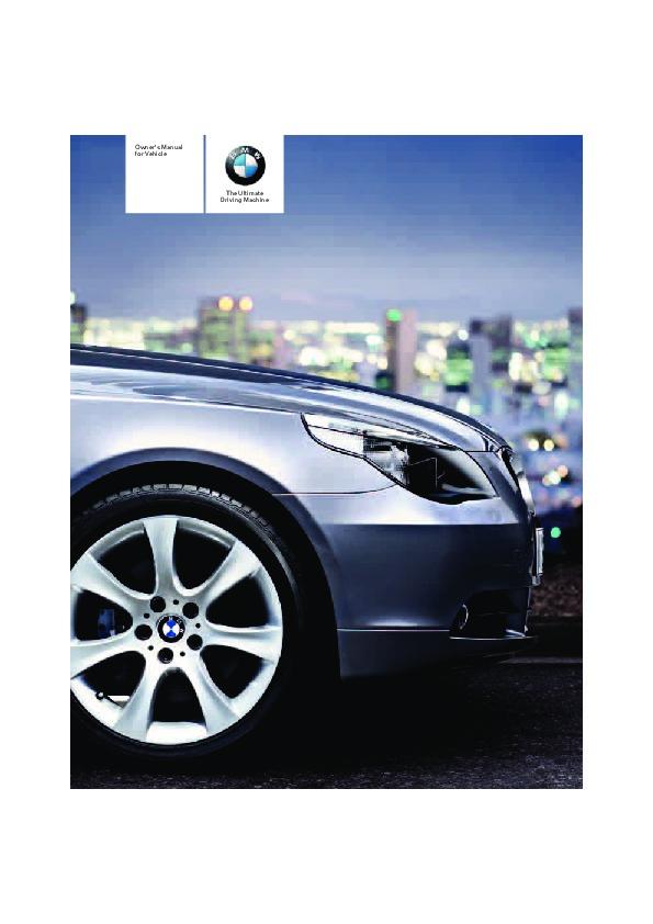 2006 bmw 5 series 525i 525xi 530i 530xi 550i e60 e61 owners manual rh auto filemanual com 1987 BMW Owners Manual 2006 BMW 760 Cooler