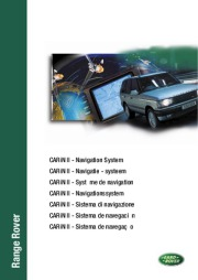 2000 Land Rover CARiN II Navigation System Manual page 1