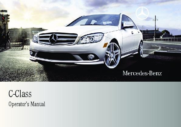 2009 mercedes benz c class operators manual c230 c300 4matic c350 rh auto filemanual com 2009 C300 Custom 2009 mercedes c300 4matic owners manual