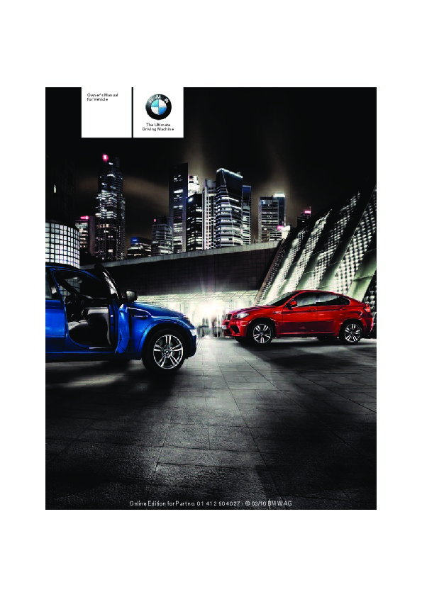 bmw x5 e70 owners manual