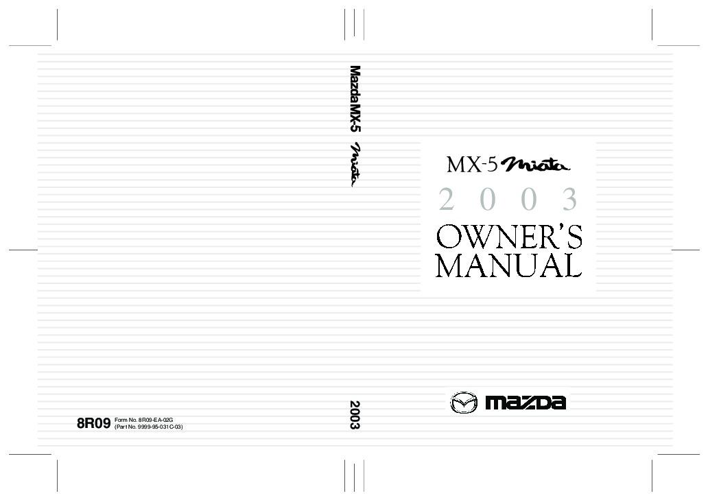 1995 mazda miata owners manual pdf