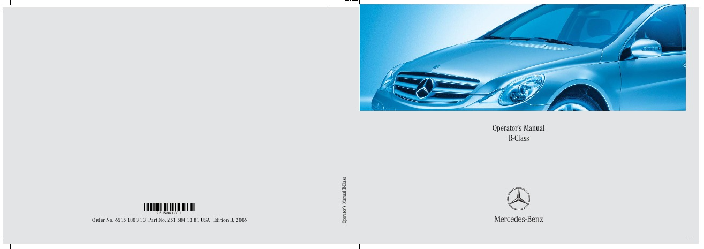 2006 mercedes benz r350 r500 v251 owners manual rh auto filemanual com 2011 Mercedes S-Class 2013 Mercedes S-Class