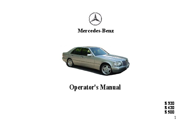 1998 mercedes benz s320 s420 s500 w140 owners manual rh auto filemanual com mercedes s320 service manual mercedes s320 owners manual pdf