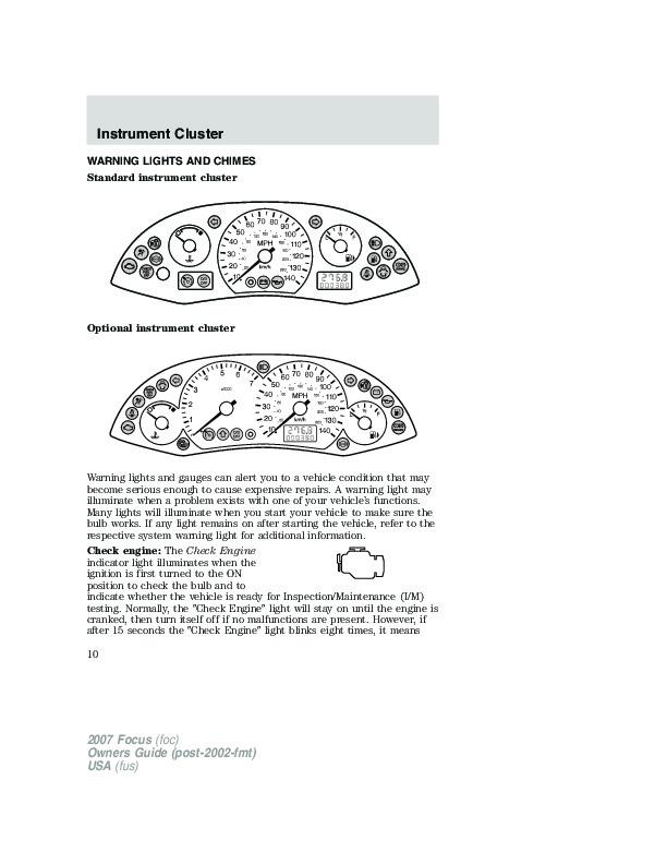 2007 ford focus owners manual. Black Bedroom Furniture Sets. Home Design Ideas